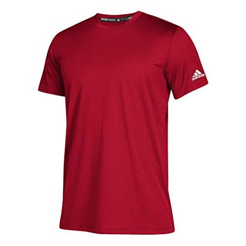 adidas Men's Clima Tech Tee,Power Red/White,L/G