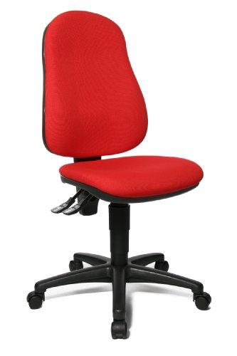 Topstar Point 60 Silla giratoria de Oficina, Tela, Rojo, 54 x 47 x 109 cm