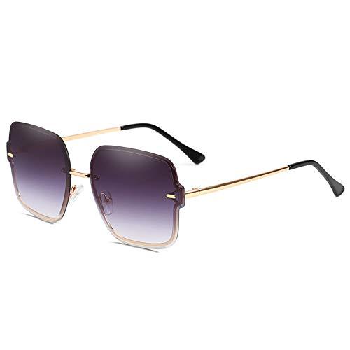 LUHUANONG Gafas de Sol con Montura Transparente Gafas de Sol para Mujer Gafas Protectoras para Hombres Gafas de Conducción Alguien (Color : B)