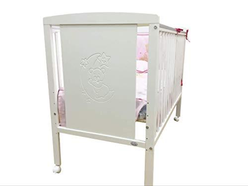 Cuna para bebé, modelo Oso Dormilón Mundi Bebé+ KIT COLECHO + Colchón Viscoelástica + Protector de colchón impermeable
