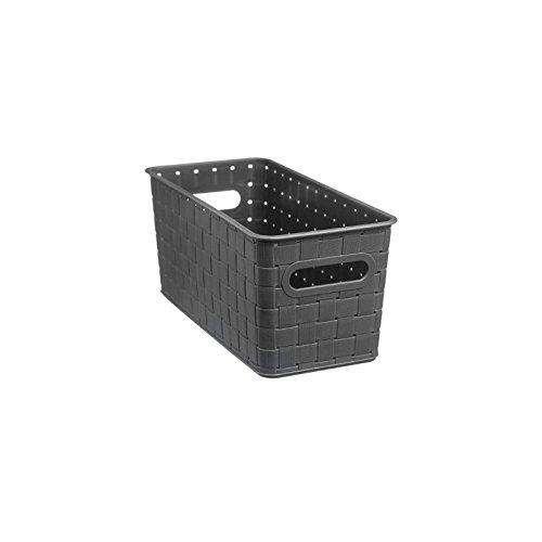 AC-Déco Panier De Rangement en Plastique - 31 X 15 X 14 Cm - Gris