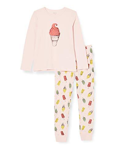 NAME IT Mädchen Nkfnightset Potpourri Ice AOP Noos Pyjamaset, 122-128 (2er Pack)