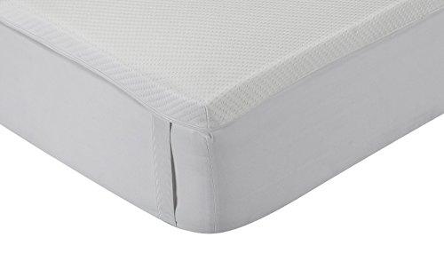 Classic Blanc - Surmatelas en mousse à mémoire Aloe Vera , confort médium, épaisseur 5cm. 100x200 cm-Lit 100