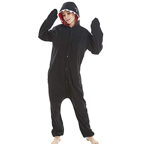 JBDGNZ Pijama para Mujer, Pijama de Oso de Animal de Dibujos Animados, Ropa para el hogar, Polar, Franela, Parejas para Pijamas, Mono de Cosplay de Halloween, Rosa, L