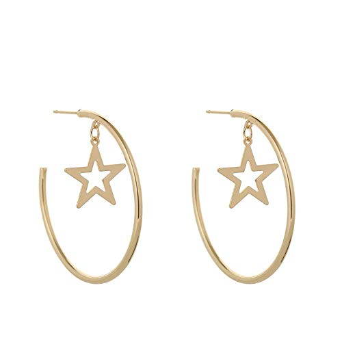 Damen-Ohrringe Creolen Ohrschmuck Stern Ohrringe Kreis rund