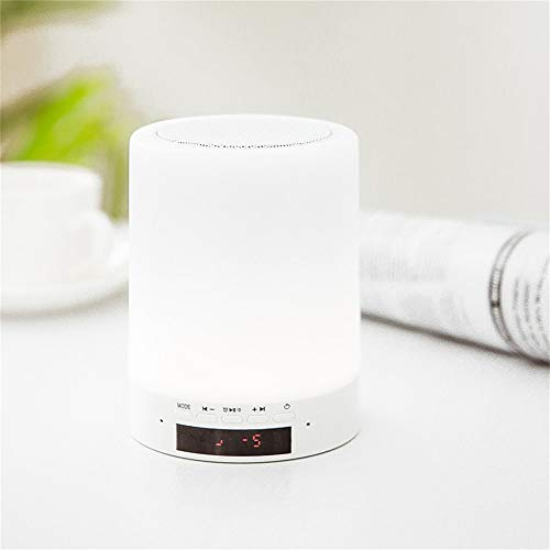 Wekker Night Lights digital Wireless Speaker Touch Control Wake Up Light LED Tafelklok voor thuis