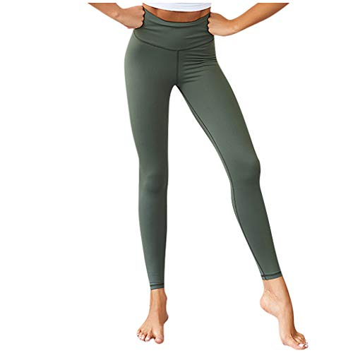 Ulanda-EU Leggings Damen, Yoga Pants,Damen High Waist Gym Sport Leggings,Tummy Control Running Workout Trumpfhose, Stretch Trainingshose Sporthose Sportleggins