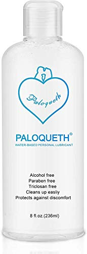 Water Based Lube for Women, PALOQUETH Personal Lubricants for Women, Men and Couples Paraben-Free Non Sticky Long Lasting Natural Feeling Odorless 8 Oz