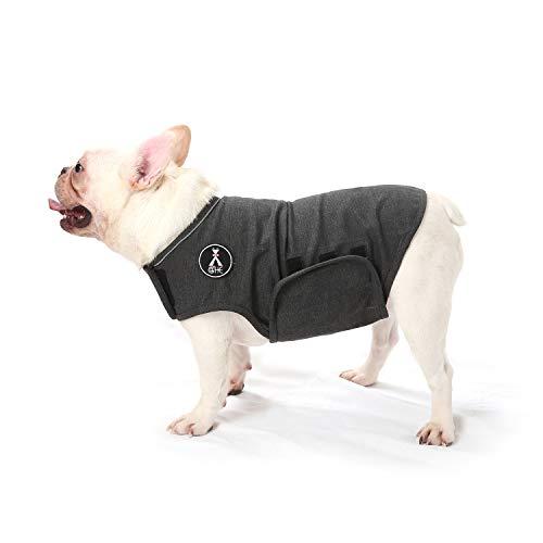 Giacca antiansia per cani alla menta, leggera, per cani ansiosi, per mantenere il comfort calmante (S, grigio)