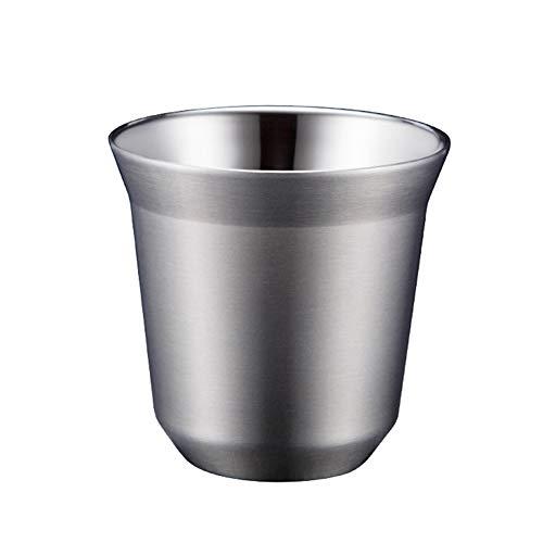 Benoon Espresso-Tasse, 80/160 ml, doppelwandige Wärmeisolierung, Edelstahl, Vakuum, Kaffeetasse B