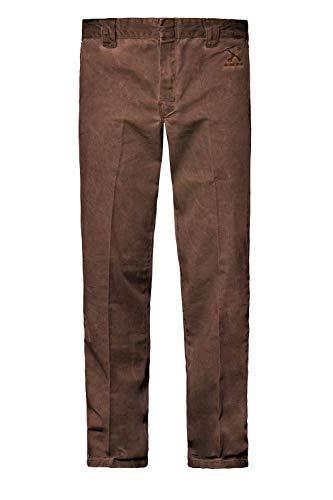 King Kerosin Garage Wear Jeans, Marrón, 42W/ 34L para Hombre