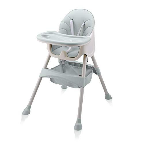 Baby Vivo Hochstuhl 2in1 Baby Kinder Babyhochstuhl Kombihochstuhl - Abnehmbares Verstellbares Tablett - mit Hängekorb - Oscar in Türkis