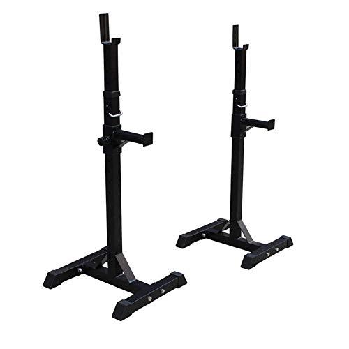 FHISD Squat Stand - Verstellbare Squat Rack Barbell Free Press Bank, verstellbare Heavy Duty Squat Rack Power Weight Bank Unterstützung, Home Gym Krafttraining Stand