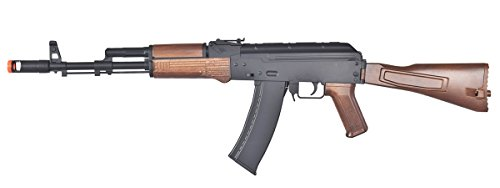 commercial Wells D74 AK47 fully automatic electric airsoft gun, wooden airsoft ak