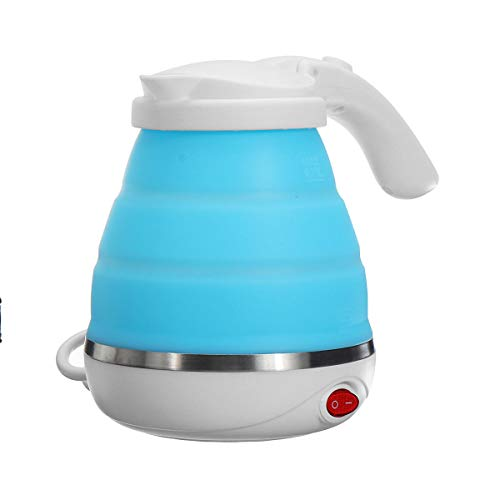 Yi-xir Elegant appearance Travel Silicone Foldable Electrical Water Kettle Collapsible Tenting Water Boiler Perfect Design
