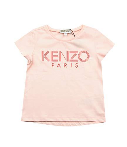 Kenzo Kids Girl's Printed Logo Tee (Big Kids) Light Pink 8A