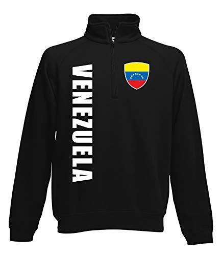 Aprom Venezuela - Sudadera con cremallera para fútbol Negro M