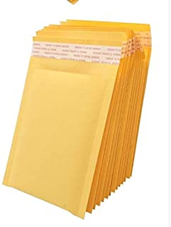 Muchen 6x10 inchs Yellow Kraft Bubble Mailers Self Seal Padded Envelopes,Pack of 25