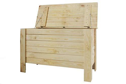 MD Holzkiste Holztruhe Truhe Kiste aus Holz mit Deckel