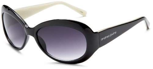 Andrea Jovine Women's A321 Sunglasses, Black Frame/Gradient Smoke Lens, One Size