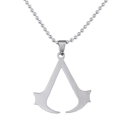 Alushisland Collar de acero inoxidable con logotipo de Assassin's Creed de Zelda