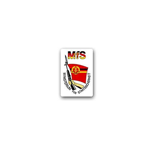 MFS Stasi Aufkleber Sticker Ministerium Staatssicherheit 5x7cm#A3589