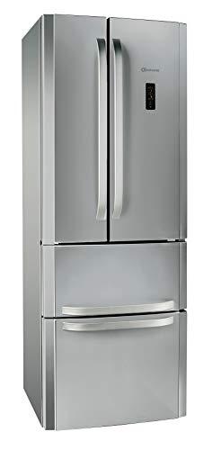 Bauknecht Kühlschrank KSN 19 IN NoFrost Compact French Door / LED-Licht / 0° Food Care Zone / Umluftkühlung / QuickIce / Superkühlfunktion / Türen in Edelstahloptik
