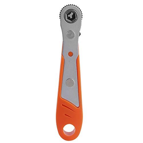 Ratchet Wrench, Mini 36 Teeth 1/4in Wrench Screwdriver Drill Bit Socket Ratchet Socket Wrench And Screwdriver Tool (Orange)
