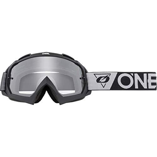 O\'NEAL | Fahrrad- & Motocross-Brille | MX MTB DH FR Downhill Freeride | Hochpräzise 3D geformte Linse, Schlagfestigkeit, 100{d69950372722b2b6c9efca75a727cbd703e57602fe85d329072ccd9d8a292b31} UVA/B/C-Schutz | B-10 Goggle | Unisex | Schwarz Grau Clear | One Size