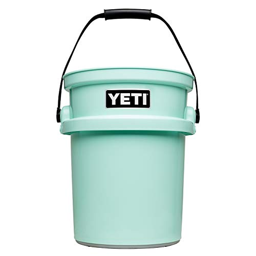 YETI Loadout 5-Gallon Bucket, Impact Resistant Fishing/Utility Bucket, Seafoam