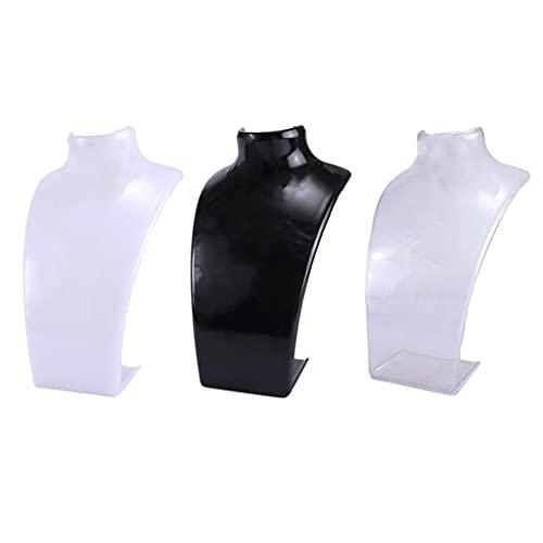Collar de moda de acrílico modelo escaparate joyería abrazadera colgante pendientes soporte de exhibición-1
