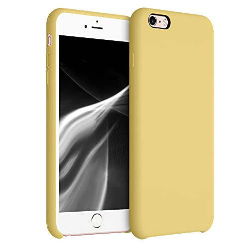 kwmobile Funda Compatible con Apple iPhone 6 Plus / 6S Plus - Funda Carcasa de TPU para móvil - Cover Trasero en Amarillo Trigo