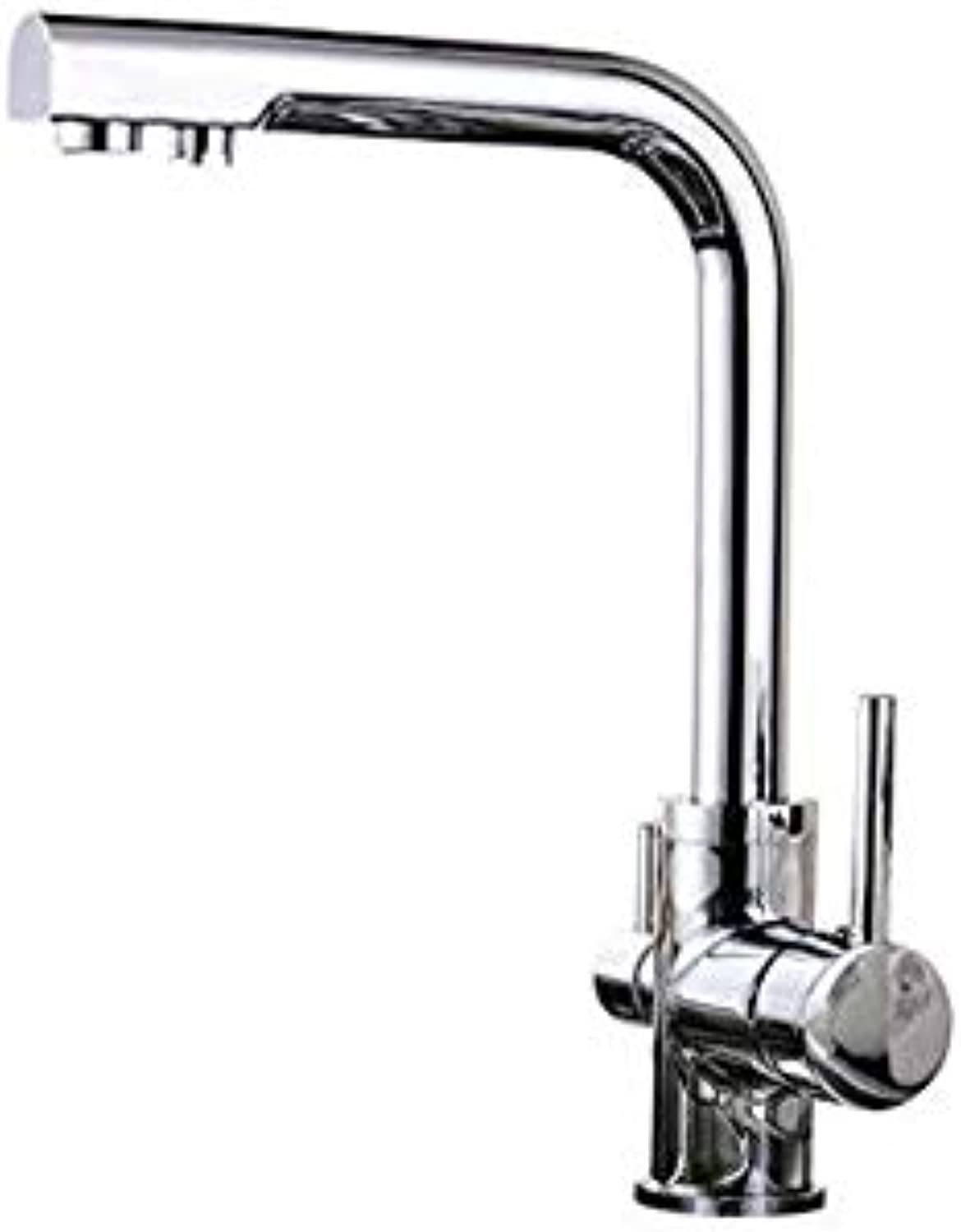 Modern Waterfall Kitchen Faucet Kitchen Pure Kitchen Faucet Hot and Cold Sink Faucet All Copper Can Be redated
