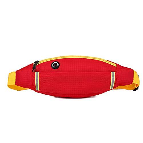 AOUVIK Reflective Waist Running Bags, Women Belts Bag Outdoor Sports Travel Fanny Pack Unisex Waist Packs Small Hip Phone Pouch,Red