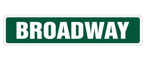SignMission Broadway Plaque de Rue New York NYC New Show Theatre Stage Play sur Acteur Cadeau, Plastique, Green, Taille L