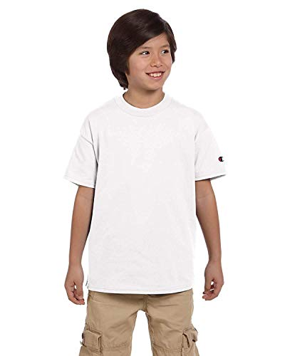Champion Youth Jersey Tee White