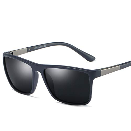ZHAOXQ Sunglasses, Personality Fashion Vintage Durable Men's Polarized Sunglasses Full Rimmed Durable UV400 Protection Is Your Best Choice For Outdoor Activities anti-allergy (Color : Black)