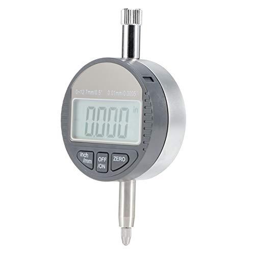 Indicador de cuadrante Digital Calibrador de Calibre, 0-12.7 mm Pulgada/conversión métrica Indicador de cuadrante Digital, para producción Industrial Varias Medidas