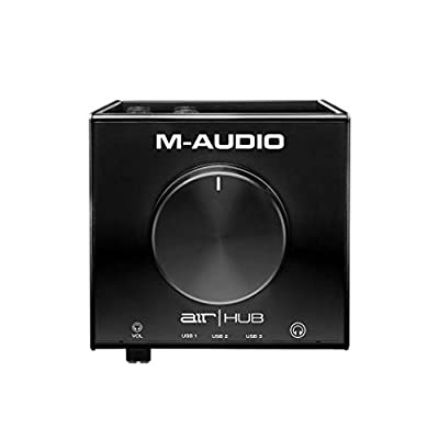 M-Audio AIR|HUB - USB Audio Interface with 3-Port Hub and Recording Software from Pro-Tools & Ableton Live, Plus Studio-Grade FX & Instruments by inMusic Brands Inc
