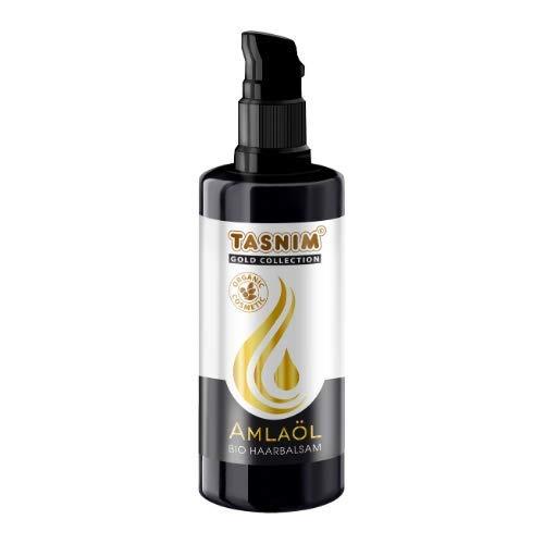 Bio Haaröl Amla Öl Haarbalsam Bartöl 100ml von Tasnim Haarpflege Haarausfall Naturkosmetik Sesamöl Amlaöl Vitamin E Bittermandelöl für hervorragende Pflege ihrer Haare und Kopfhaut