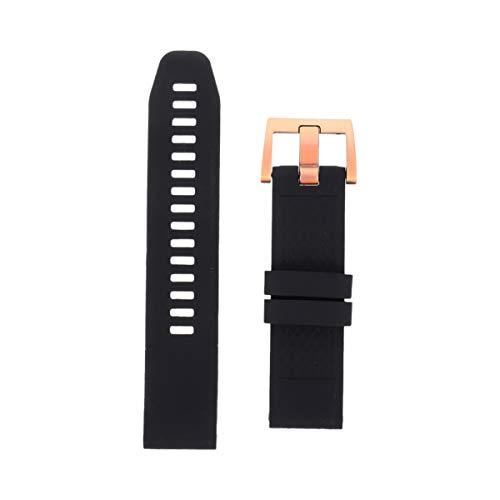 ULTECHNOVO Pulseira de Relógio Inteligente Pulseira de Silicone Pulseira de Substituição de Relógio Compatível para Garmin Fenix 5S 20 Mm (Preto)