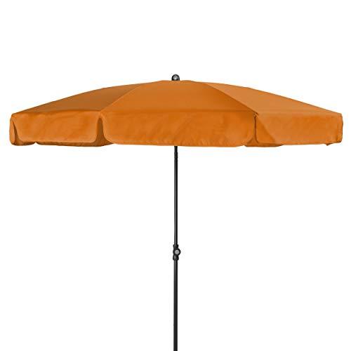 Doppler - Hochwertiger Sonnenschirm für den Balkon - Wetterfest - Knickbar - UV-Schutz 50+ - 200 cm - Orange