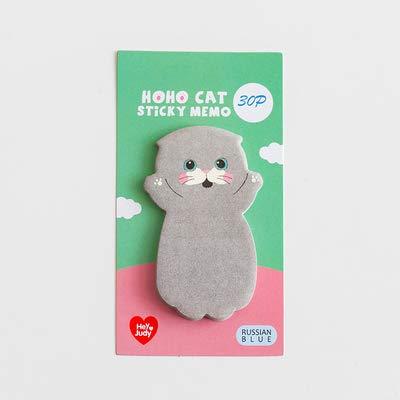 xuyang 1 etiqueta adhesiva para mensaje de estudiante de la serie de gatos lindos y gatos, para álbumes de recortes, para la escuela, papelería (color ruso)