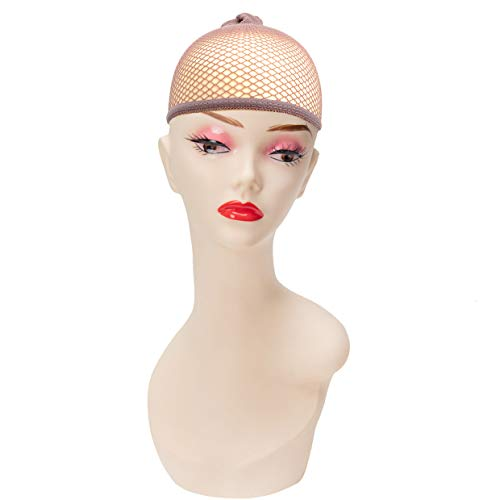 2 Stück Öffnen Haarnetz Unterziehhaube Perücken Perückennetz Perückenunterziehhaube Braun
