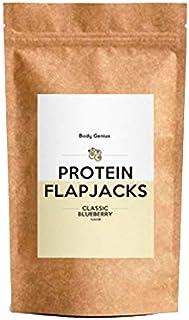BODY GENIUS Protein Flapjacks (Arándanos). 500g. Preparado para barritas y galletas proteicas. Sin azúcares añadidos. Con Proteína. Snack Saludable. Hecho en España.
