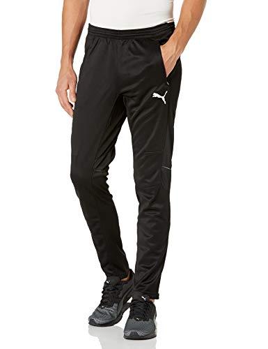 PUMA Men's Training Pant, Black/White, L