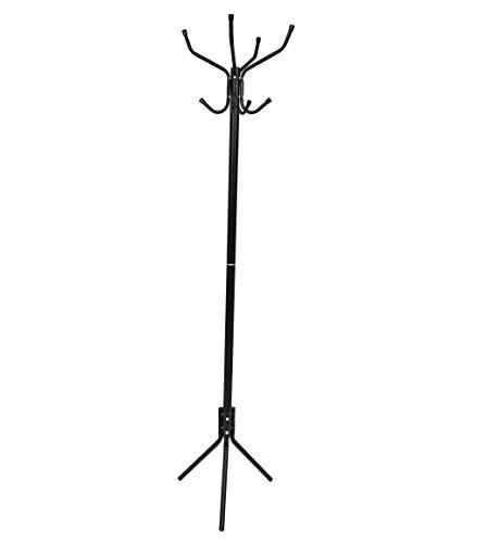 thesecrethome.es Perchero Metal Negro (8 COLGADORES) | (45 x 172 cm)