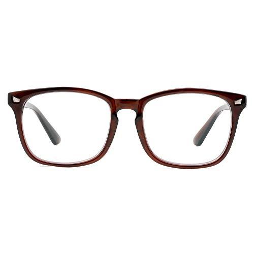 Cyxus Occhiali luce blu bloccanti per il blocco della cefalea UV [Anti Eyestrain] Occhiali retrò, Unisex (uomini donne) (Occhiali marroni)