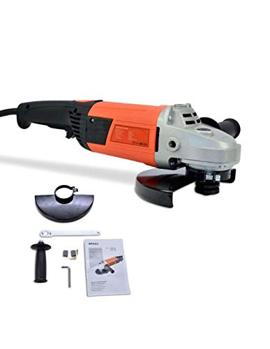 Amoladora angular 2400W, diámetro de disco 230 mm, 5500rpm, 220V, protector de rueda y mango auxiliar regulable de 3 posiciones