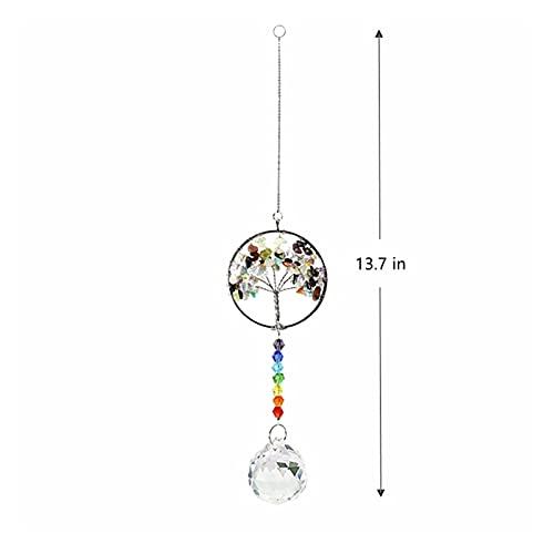 ZAOPP Cangalujos de Cristal Colgantes Hecho a Mano Árbol de Vida Colgante Cadena de Cadena de Cadena Coche Colgante Ornamento Hogar Al Aire Libre Decoración (Color : Pendant 12)